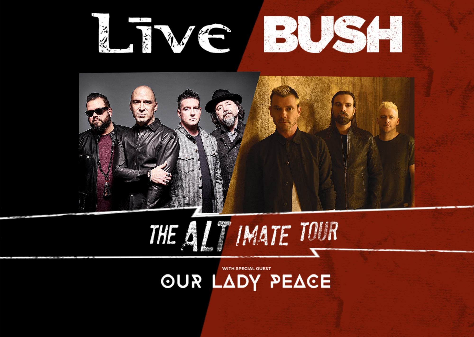 LIVE+ & Bush - The ALTIMATE Tour | H-E-B Center