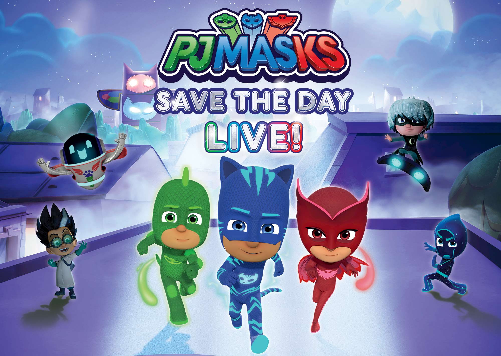 pj masks live save the day h e b center