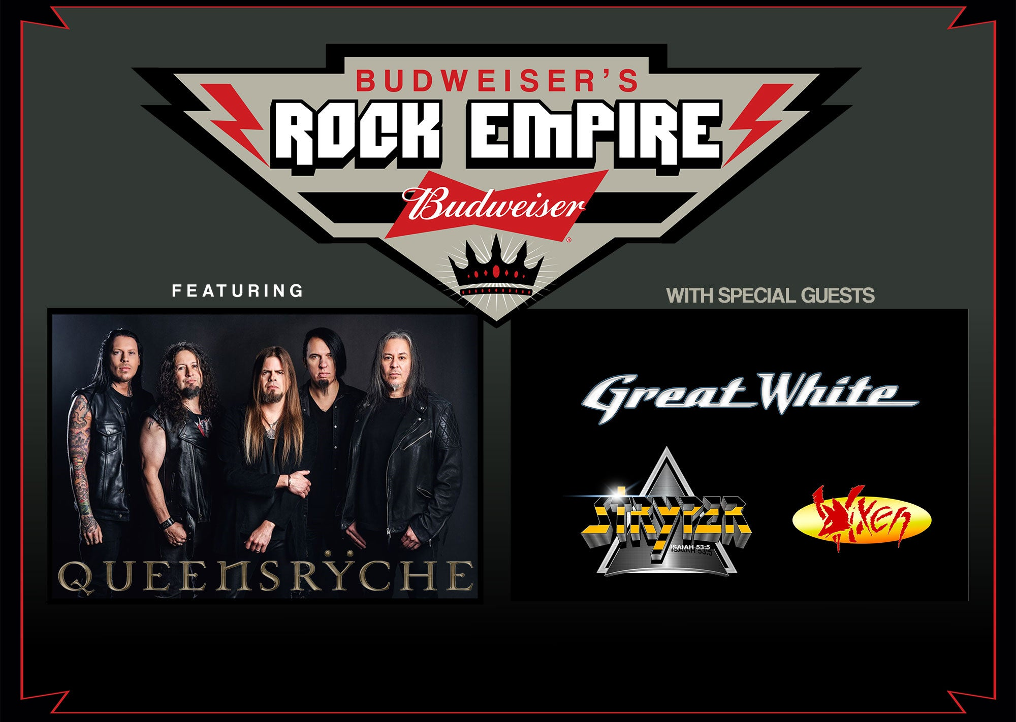 Queensryche with Great White, Stryper and Vixen